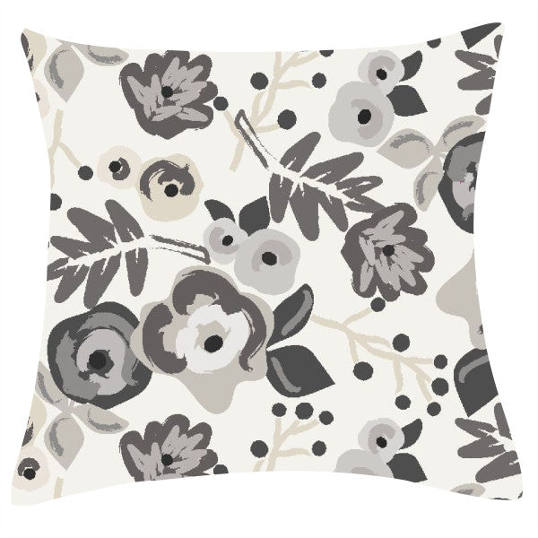 Bloom Charcoal Pillow
