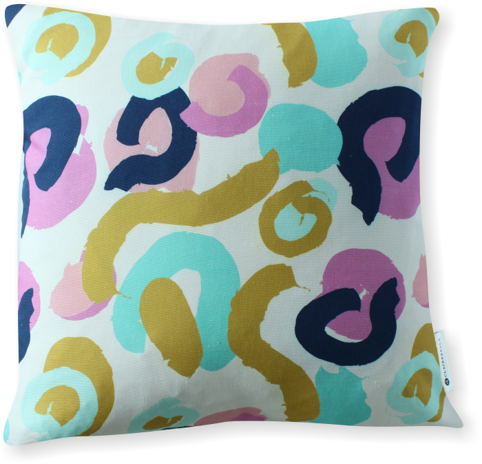 Luxe Brushstrokes Orchid Pillow