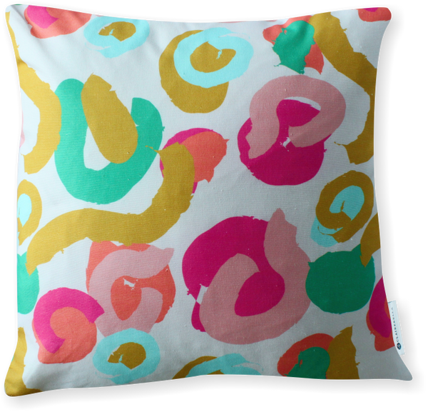 Luxe Brushstrokes Pink Pillow