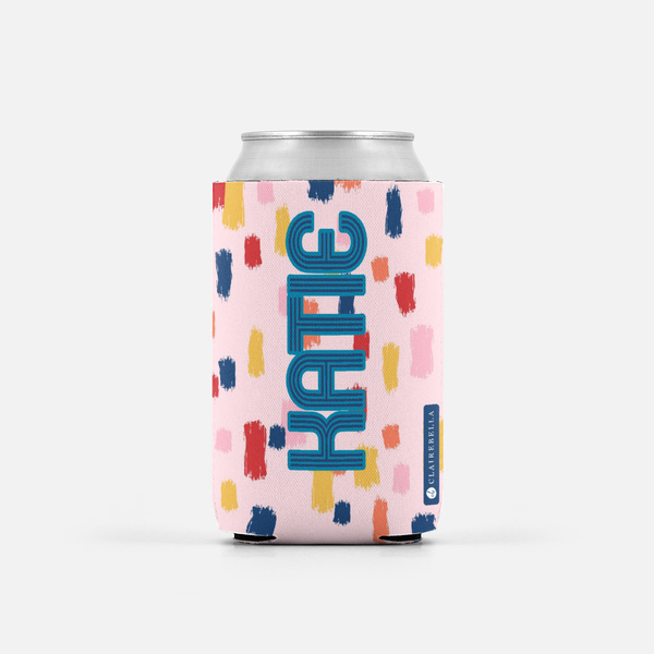 Come On Get Happy! Confetti Pink Can Cooler