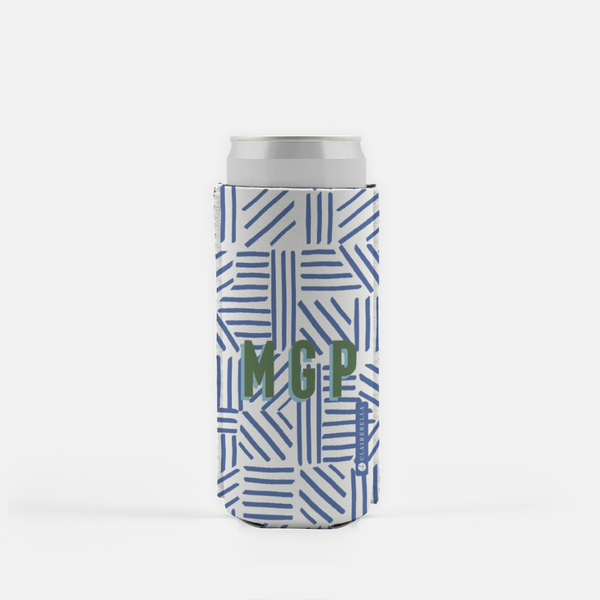 Mod About You Stripes Blue Slim Can Cooler