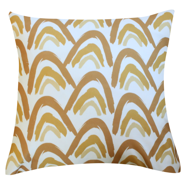 Camden Gold Pillow by Clairebella