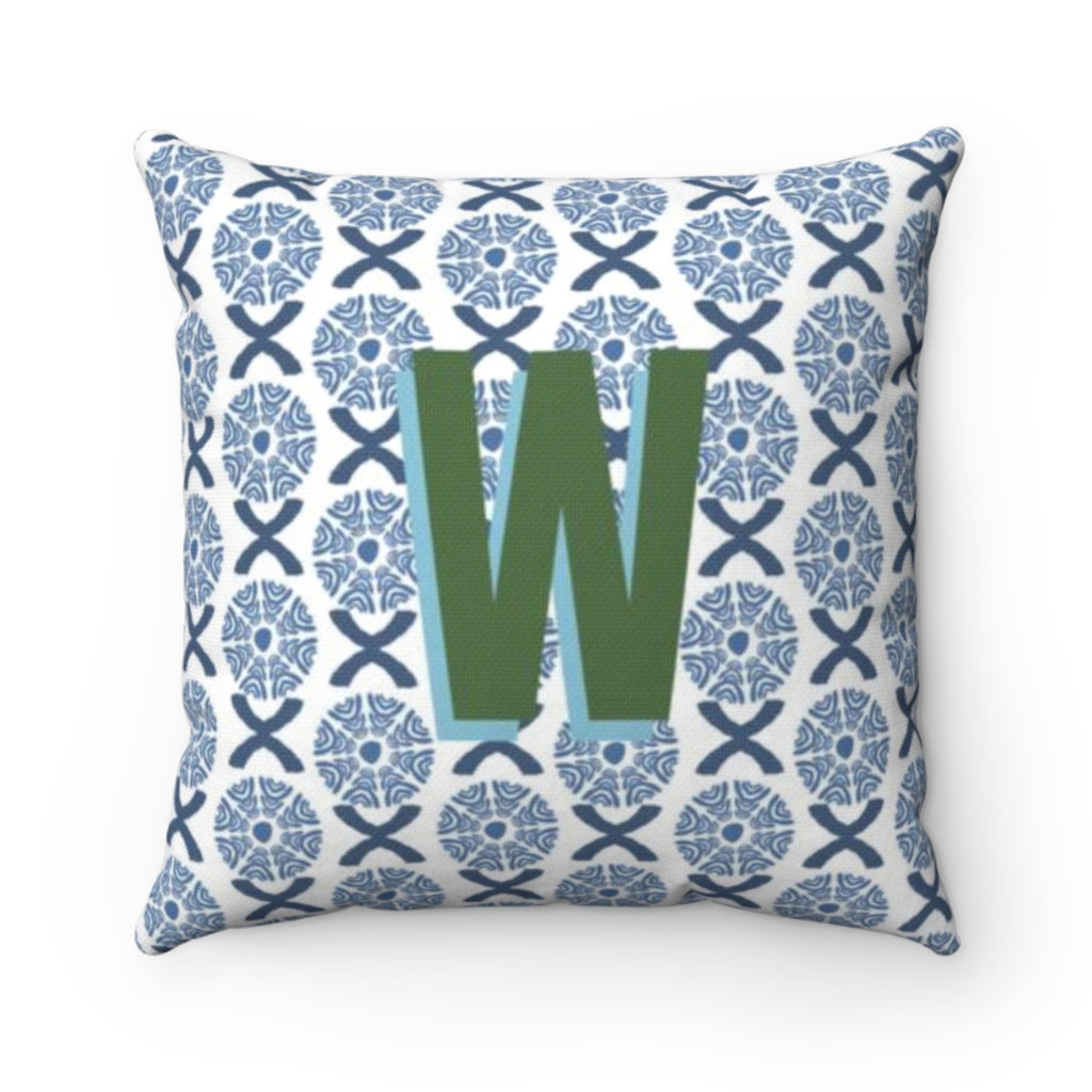 Camille Blue Outdoor Pillow