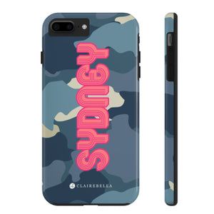 iPhone Tough Case 7/8 Plus Camo Blue