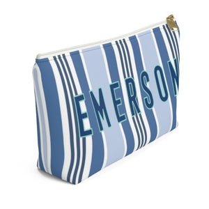 Capri Stripe Small Zippered Pouch