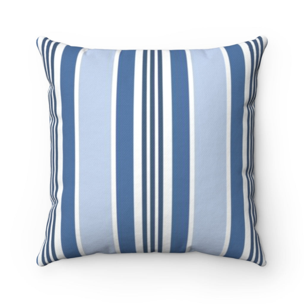 Capri Stripe Blue Outdoor Pillow