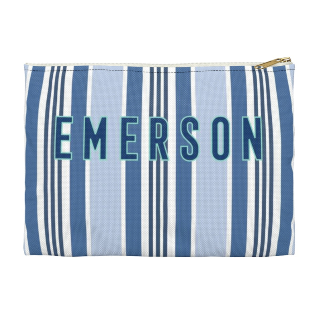 Capri Stripe Large Zippered Clutch