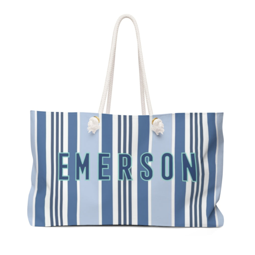 Capri Stripe Travel Tote