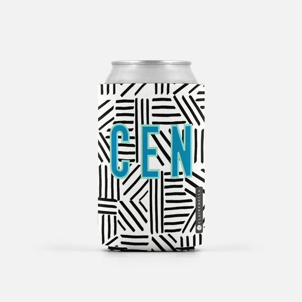 Mod About You Stripes Black Can Cooler