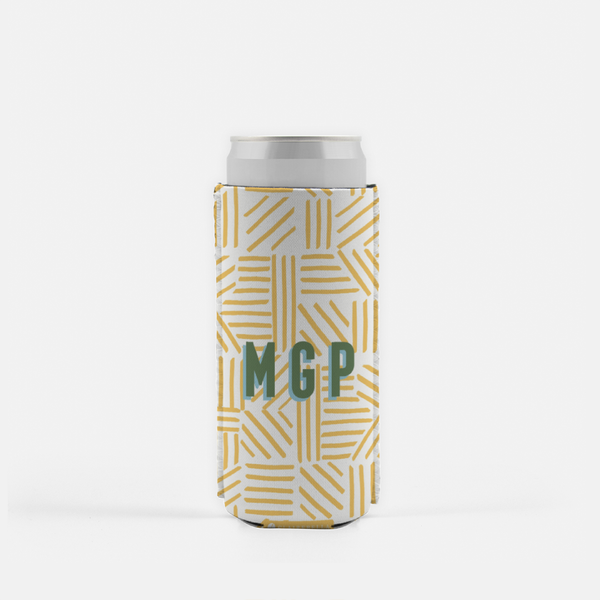Mod About You Stripes Yellow Slim Can Cooler