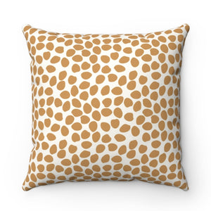 Dottie Gold Pillow by Clairebella
