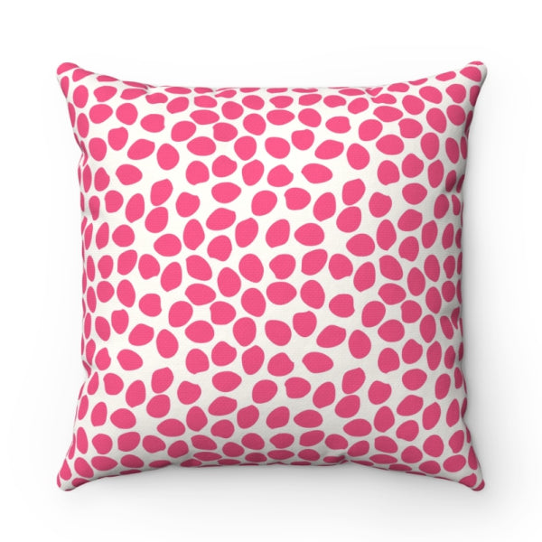 Dottie Pink Pillow by Clairebella