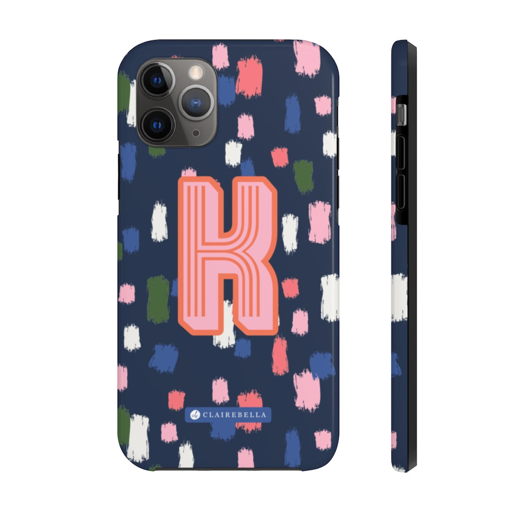 Come On Get Happy! Confetti Navy iPhone 12/12 Pro Case