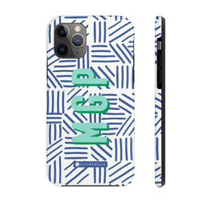 Mod About You Stripes Blue iPhone 12/12 Pro Case