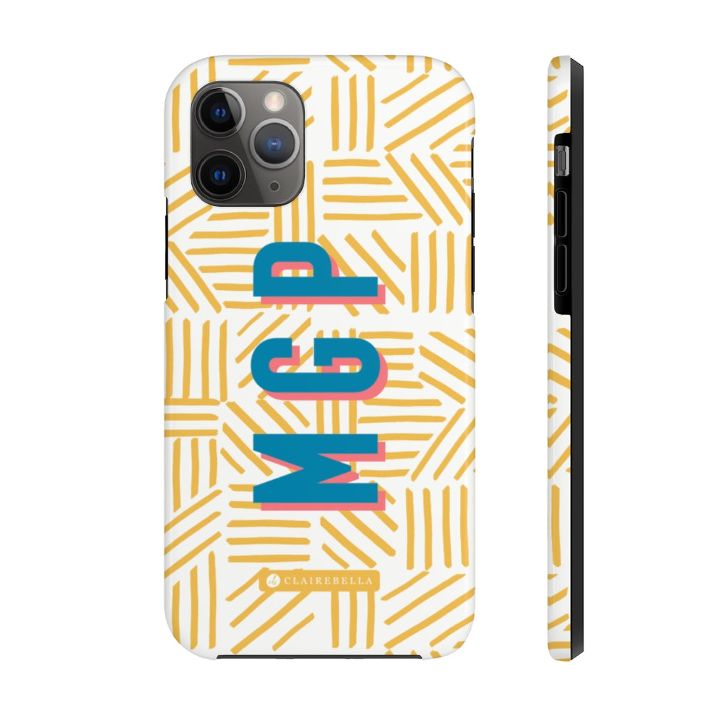 Mod About You Stripes Yellow iPhone 12/12 Pro Case