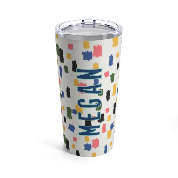 Come On Get Happy, Confetti Ivory Tumbler