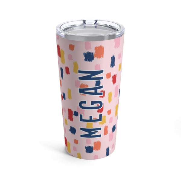 Come On Get Happy, Confetti Pink Tumbler