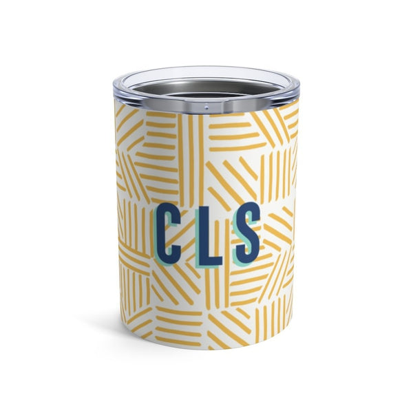 Mod About You Stripes Blue Yellow Small Tumbler