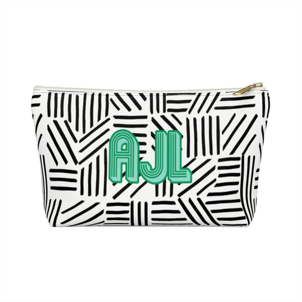 Mod About You Stripes Black Large Zippered Pouch
