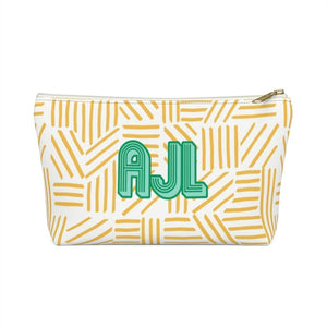 Mod About You Stripes Yellow Small Zippered Pouch