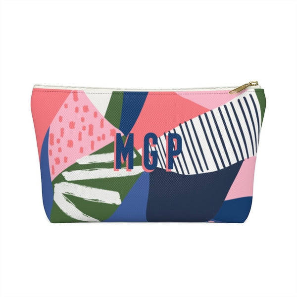 Abstract Is Where It's At Large Zippered Pouch