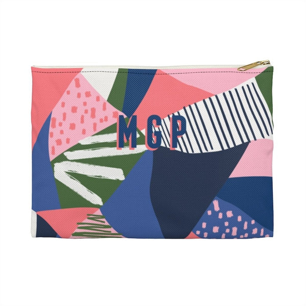 Abstract Is Where It's At Large Zippered Clutch
