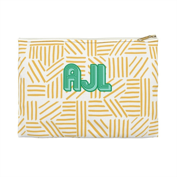 Mod About You Stripes Yellow Large Zippered Clutch