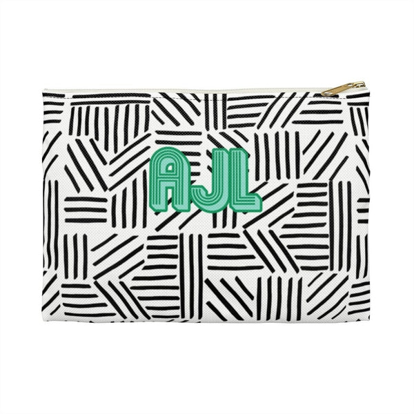 Mod About You Stripes Black Small Zippered Clutch