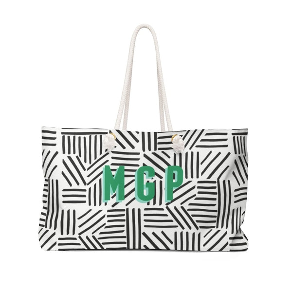 Mod About You Stripes Black Travel Tote