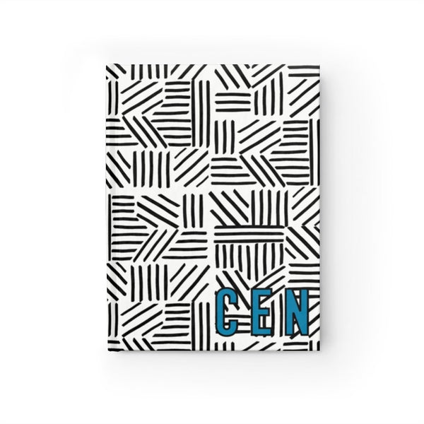 Mod About You Stripes Black Journal