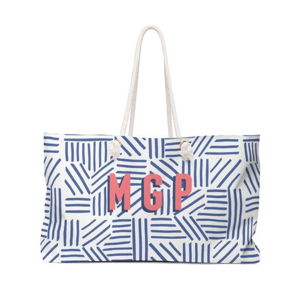 Mod About You Stripes Blue Travel Tote