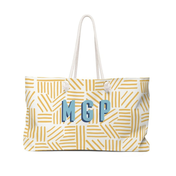 Mod About You Stripes Yellow Travel Tote