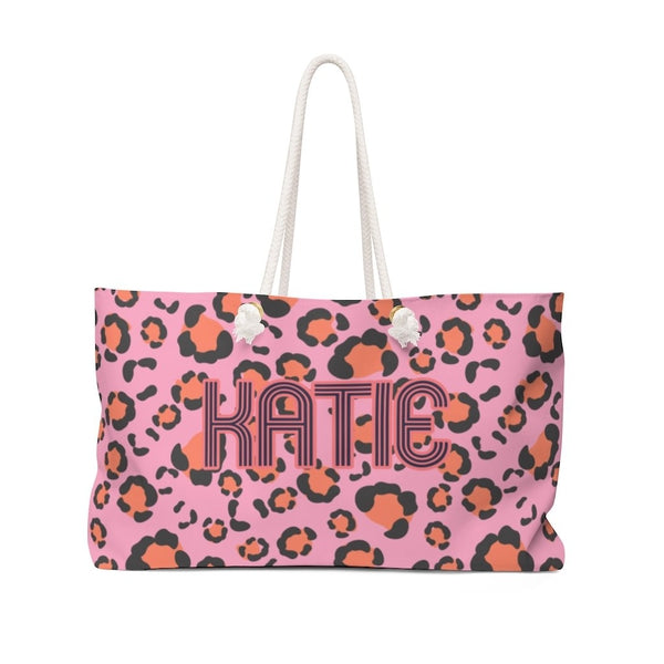 Anything But Ordinary Leopard Pink Travel Tote
