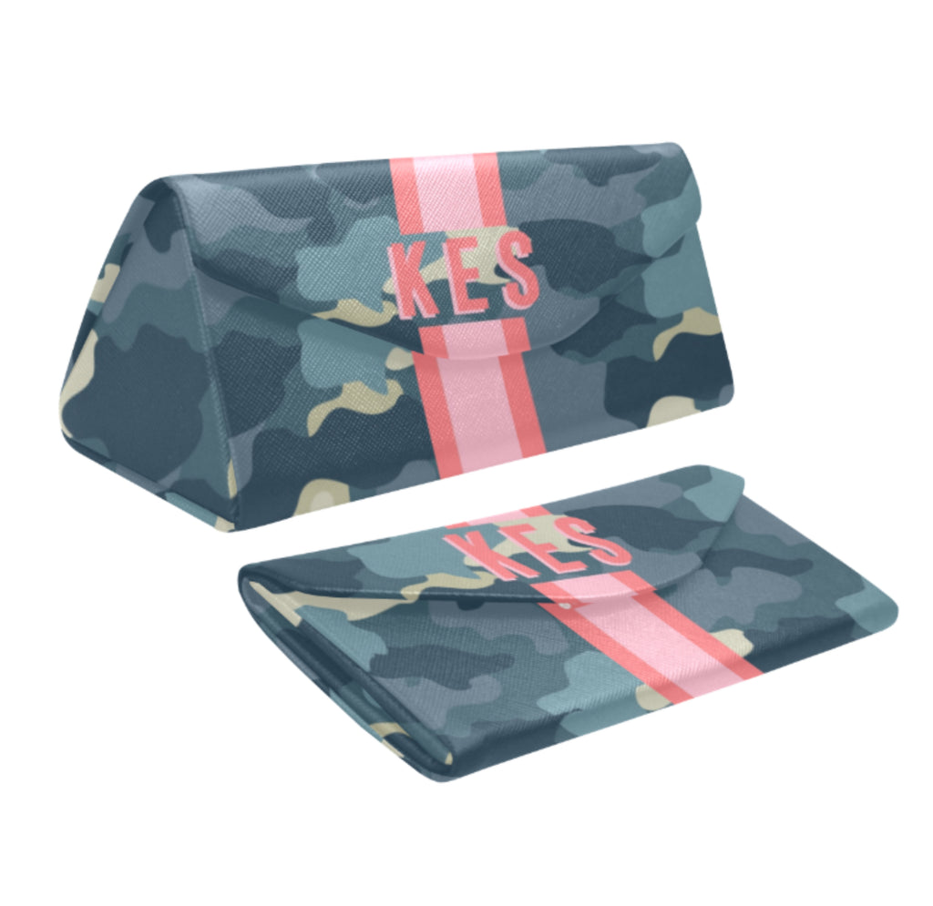 Camo Blue Eyewear Case