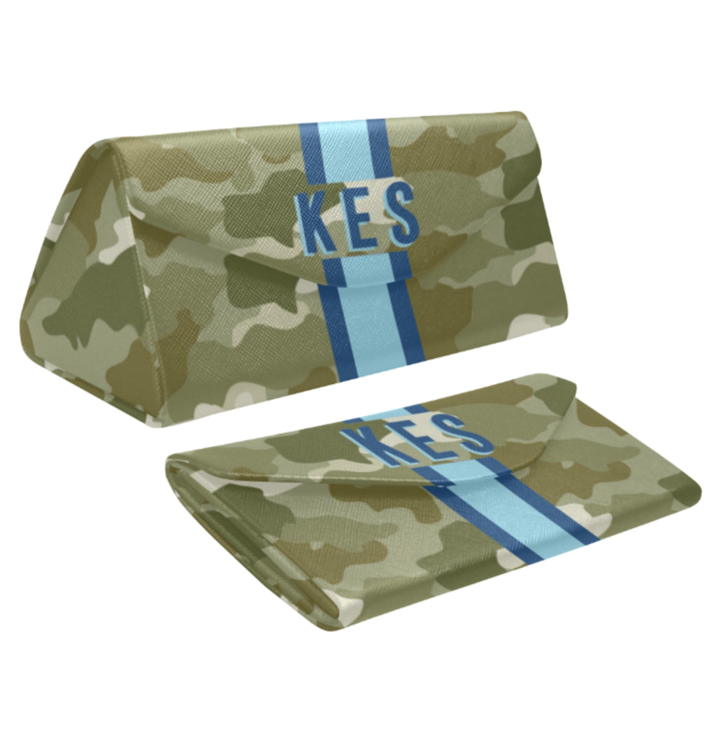 Camo Green/Blue Eyewear Case