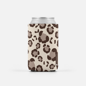 Leopard Spots Tan Can Cooler