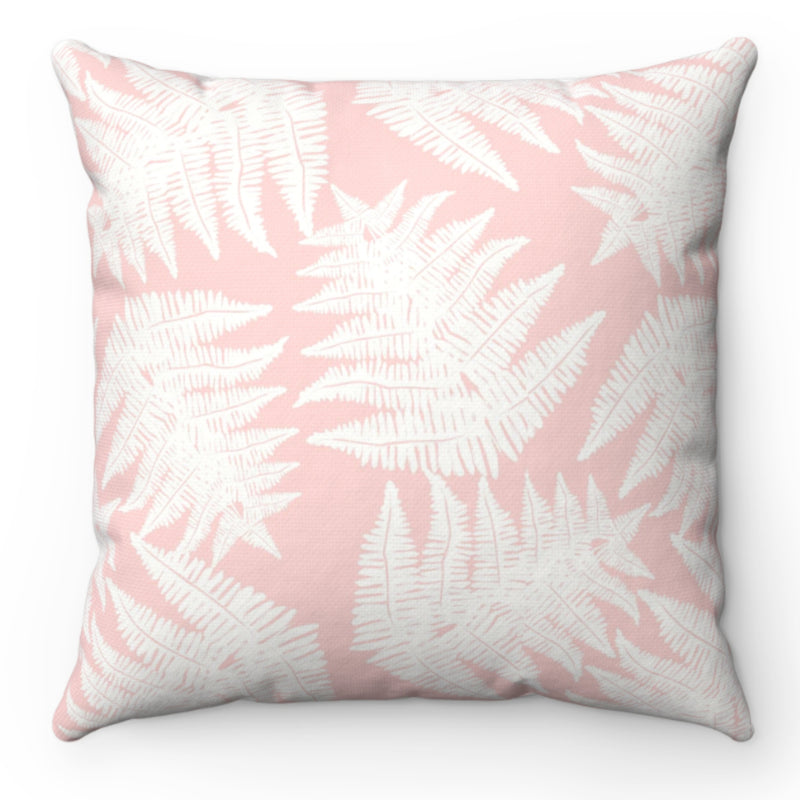 Luxe Fern Blush Pillow Cover