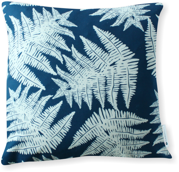 Luxe Fern Navy Pillow