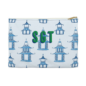 Pagoda Large Zippered Clutch