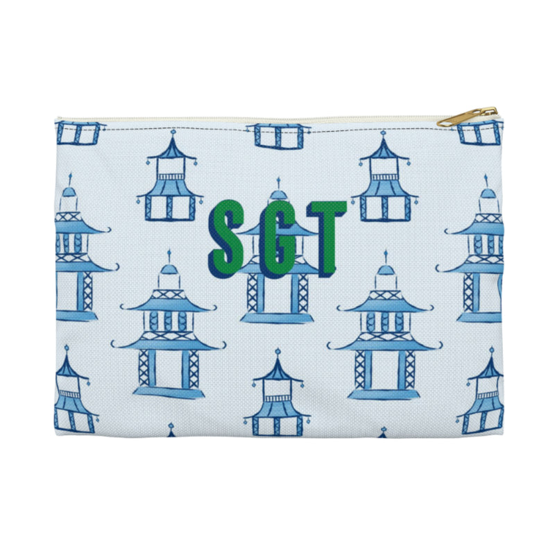 Pagoda Small Zippered Clutch