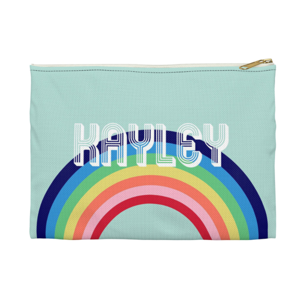 Rainbow Blue Small Zippered Clutch