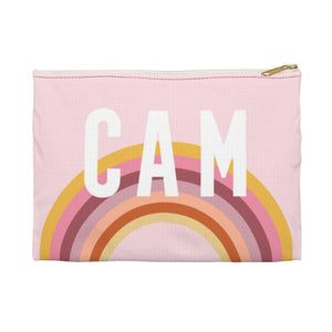 Rainbow Pink Small Zippered Clutch