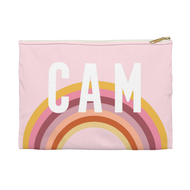 Rainbow Pink Large Zippered Clutch