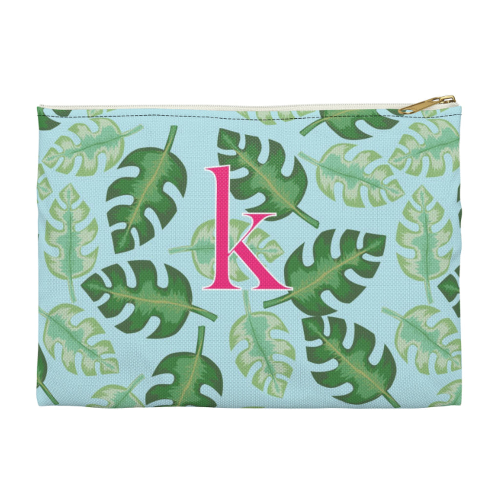 Tropical Blue Large Zippered Clutch