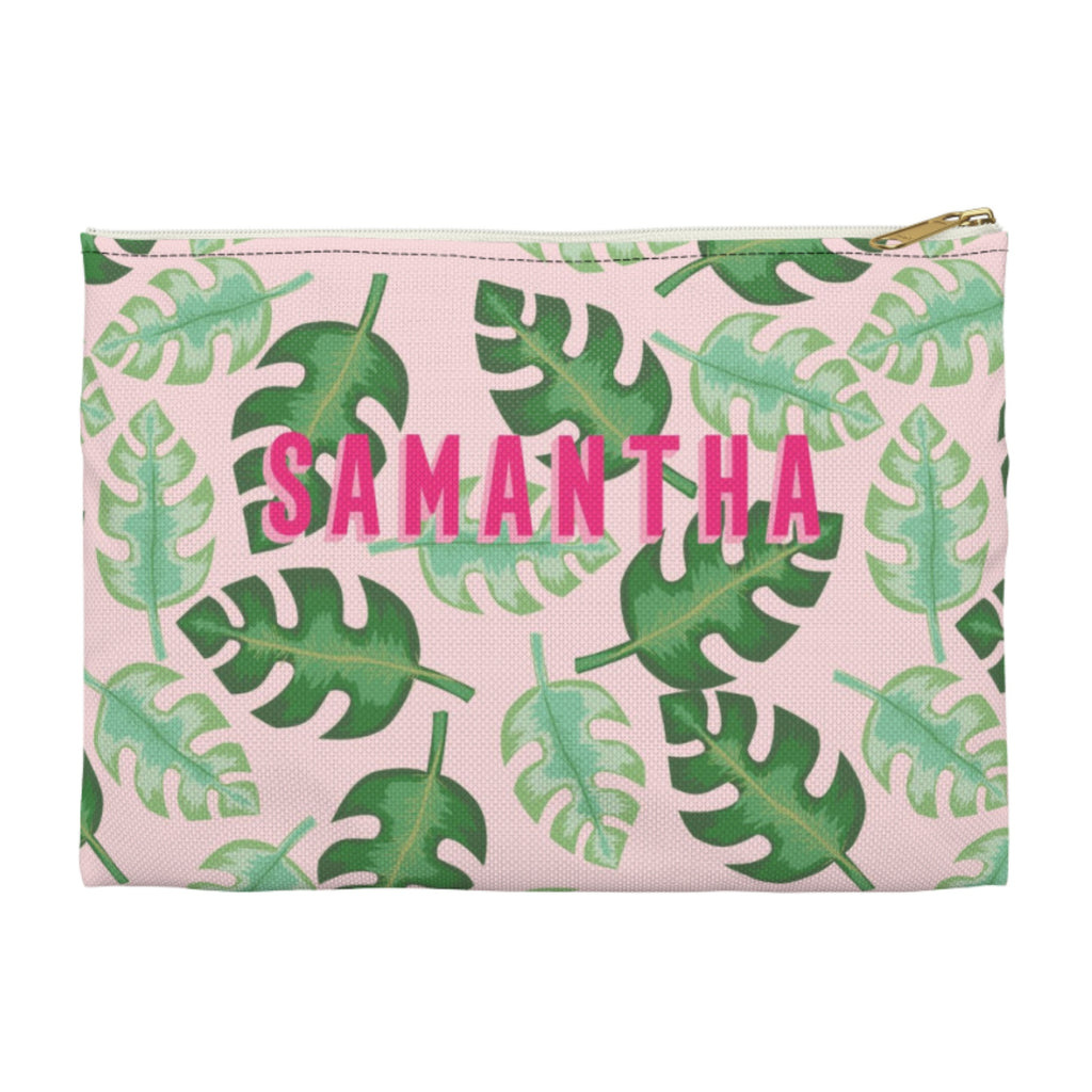 Tropical Pink Small Zippered Clutch