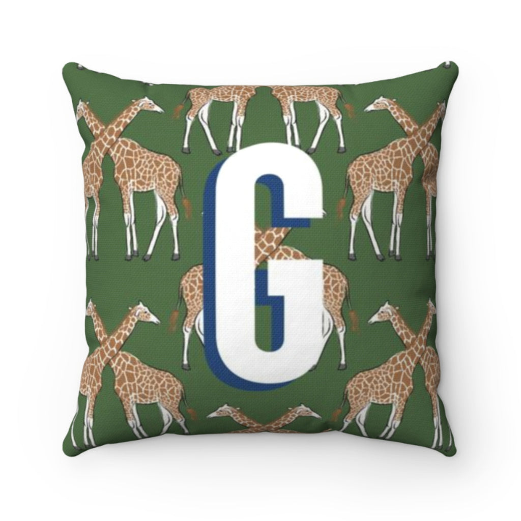Giraffe Green Pillow Cover