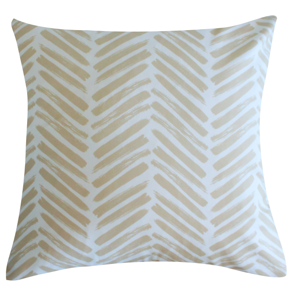 Herringbone Sand Pillow by Clairebella Cover
