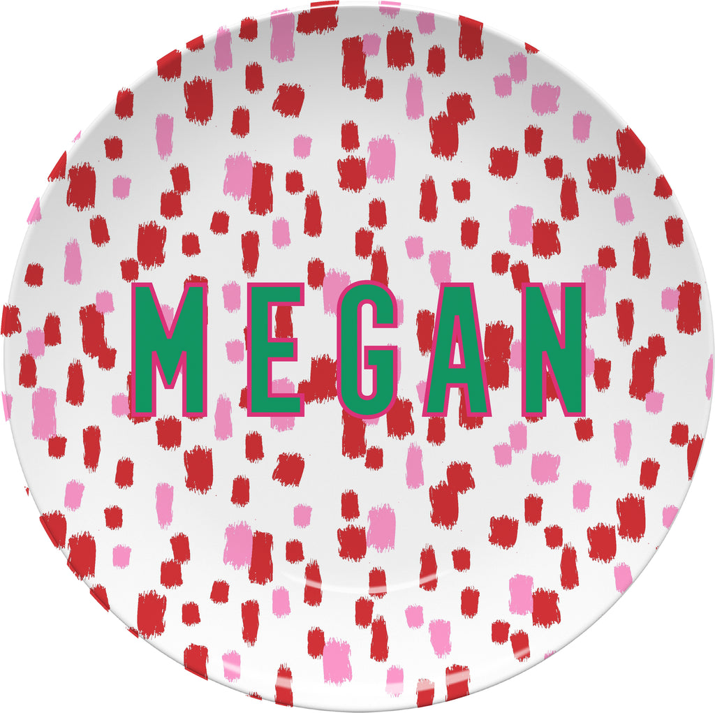 Come On Get Happy! Confetti Holiday Plate