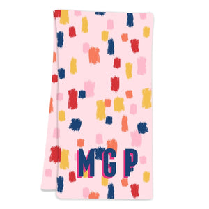 Come On Get Happy! Confetti Pink Hostess Towel