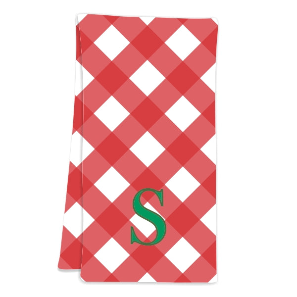 Gingham Red Hostess Towel